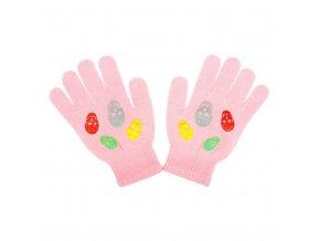 Dětské zimní rukavičky New Baby Girl světle růžové, vel. 122 (6-7 let)