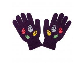 Dětské zimní rukavičky New Baby Girl fialové, vel. 122 (6-7 let)