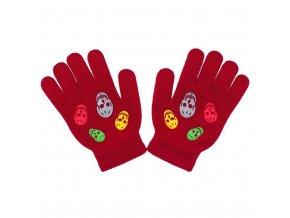 Dětské zimní rukavičky New Baby Girl červené, vel. 122 (6-7 let)