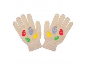 Dětské zimní rukavičky New Baby Girl béžové, vel. 122 (6-7 let)