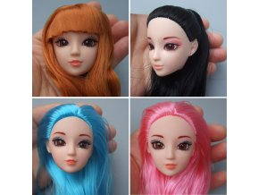 Excellent Quality Doll Head with Colorized straight Hair DIY Accessories For Barbie Dolls head 1 6 0
