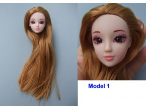 1 PC Head for barbie doll Excellent Quality Doll Head with Colorized straight Hair DIY Accessories 1