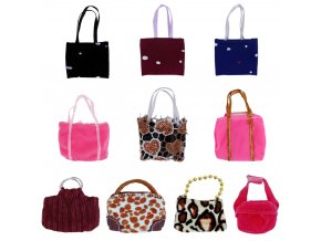 Randomly Pick 5 Pcs Handbag Mix Style Colorful Bag Fashion Modren Backpack Messenger Bag For Barbie 1
