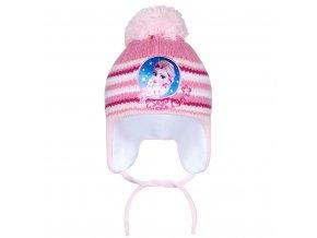 Zimní dětská čepička New Baby Lisa světle růžová, vel. 104 (3-4r)