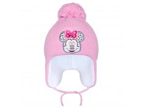 Zimní dětská čepička New Baby Minnie tmavě růžová, vel. 104 (3-4r)