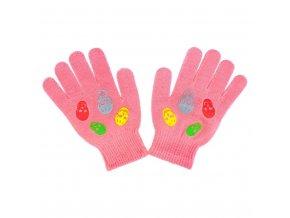Dětské zimní rukavičky New Baby Girl malinové, vel. 122 (6-7 let)