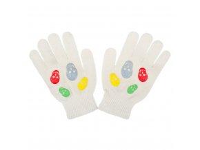 Dětské zimní rukavičky New Baby Girl cappuccino, vel. 122 (6-7 let)