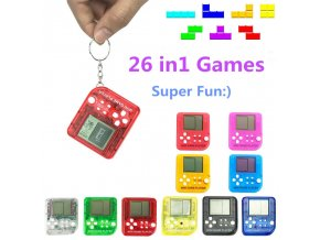 Portable Mini Tetris Game Console Keychain LCD Handheld Game Players Children Educational Electronic Toys Anti stress 1