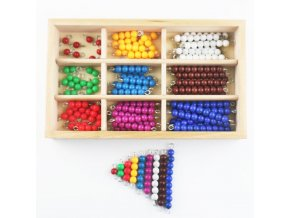 Montessori Beads Box Montessori Materials Wooden Colored Beads Preschool Sensorial Educational Toys For Children UC0565H 1
