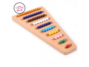 Montessori Bead Material Wooden Montessori Materials Math Counting Board Preschool Montessori Educational Wooden Toys UC1765H Beads Board