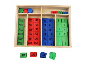 Montessori Math Materials Stamp Game with Box Wooden Early Educational Learning Toys for Toddlers Juguetes Brinquedos 1