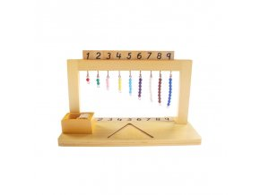 Wooden Montessori Math Material Montessori Hanger Color Bead Stairs 1 9 Preschool Educational Learning Toys For 1