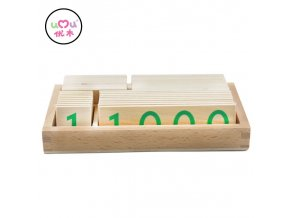 Wooden Number Cards 1 9000 Montessori Math Materials Early Educational Montessori Math Toys For Children Wooden Math Toy