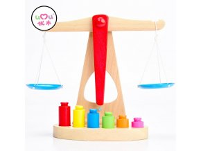 Montessori Materials Scales Weight Timber Set Montessori Educational Wooden Toys For Children Montessori Math Toys UC2265H Scale