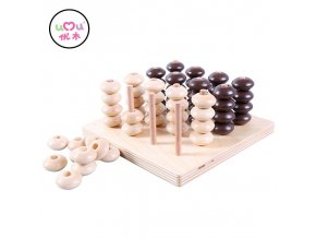 Wooden Connect Four Montessori Bead Material Educational Montessori Toys For Children Early Learning Teaching Aids UB2864H Connect Four