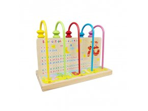 Multicolor Wooden Abacus Toys Children Counting Calculation Shelf Blocks Montessori Learning Educational Math Toys UK0266H 1