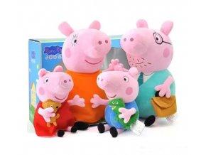 Original Brand 4Pcs set Peppa Pig Stuffed Plush Toy 19 30cm Peppa George Pig Family Party 1