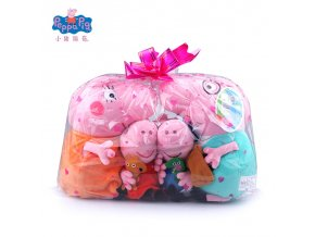 Original Brand 4Pcs set Peppa Pig Stuffed Plush Toy 19 30cm Peppa George Pig Family Party 1