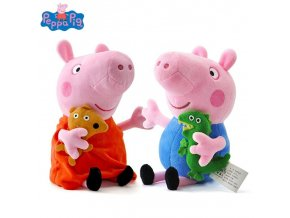 Peppa pig George pepa Pig Family Plush Toys 19cm Stuffed Doll Party decorations Schoolbag Ornament 1
