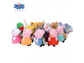 Original 19cm Peppa Pig George Animal Stuffed Plush Toys Cartoon Family Friend Pig Party Dolls For 1