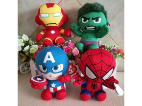 DC Marvel Plush Toys Avengers Superhero Plush Dolls Captain America Ironman Iron man Spiderman Hulk Plush 1 (1)