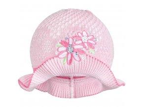 Pletený klobouček New Baby růžovo-růžový, vel. 104 (3-4r)