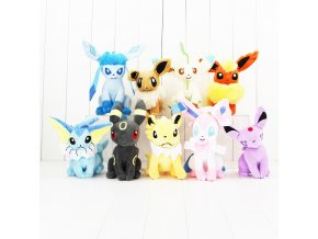 22cm Eevee Vaporeon Jolteon Flareon Espeon Umbreon Leafeon Glacia cute plush dolls Hot Japanese Anime Figure 1