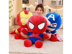 1pc 35cm Soft Stuffed Super Hero Captain America Iron Man Spiderman Plush Toys The Avengers Movie 1