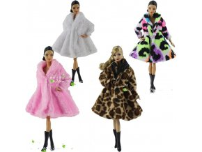 4 15 Type High Quality Fashion Handmade Clothes Dresses Grows Outfit Flannel coat for Barbie Doll dress (1)
