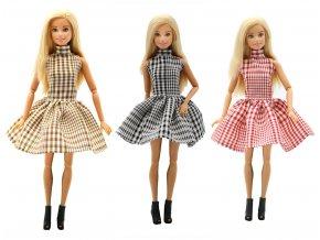 1 pc Handmade fashion clothes For Barbie Doll 3 color Plaid skirt dress baby girl birthday 1