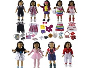 15 Style New Doll Clothes for 18 inch American Girl Doll Dress 1 PC dress not 1