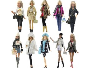 NK One Set Doll Dress Fashion Super Model Coat Modern Outfit Daily Wear For Barbie Doll 0