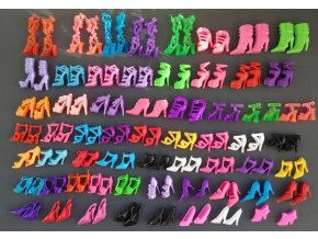 60 Pairs set Fashion Heels Sandals Doll Shoes For Barbie Dolls Outfit Dress Lots of Designs 1