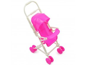 Pink Strollers For Doll Car Detachable Shade Furniture Children Toys Assemble Dolls Cart for Doll Toys 1