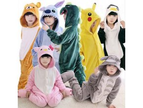Winter Girl Boy Children s Pajamas Baby Onesize Kids Pajama Set Animal Cartoon Sleepwear Stitch Panda 1