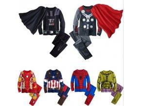 2018 The Avengers Iron Man Children Pajamas Sets Captain America Sleepwear Boys Super Cool Spring Autumn 1