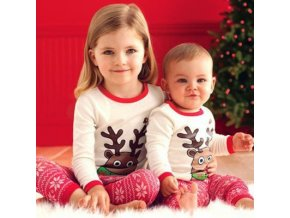 2018 Winter baby Christmas clothing sets Children Pajama Sets baby New Year s clothing Long sleeve 1