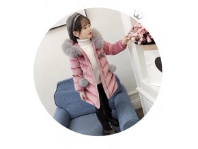 Brand New Children Cold Winter down Girls Thickening Warm Down Jackets Boys long Big Fur Hooded (13)