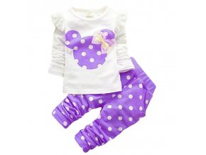 KEAIYOUHUO Children Clothing Sets Costumes For Kids Sport Suits Girls Clothes Sets Cartoon Baby Girls Clothes purple