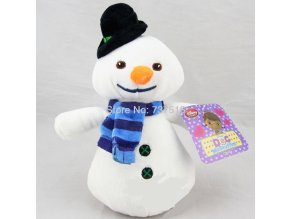 New Cute Doc McStuffins 8 Blue scarf Chilly white Snowman Plush Black hat Doll Winter Christmas 1