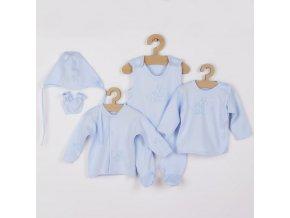 5-dílná soupravička New Baby Veverky v krabičce modrá, vel. 62 (3-6m)