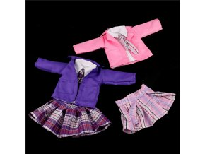 4pcs set dolls suit white shirt strap dress set for 18 45cm doll American girl doll 1