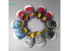 7cm Fashion sequins sports shoes for dolls fits 18 inches 45cm American Girl Zapf baby born 1
