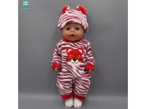 Doll clothes fits 43cm Zapf Baby born doll Cartoon rabbit pattern Siamese crawling clothes (5)