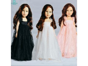 yarn Lace dress Clothes for dolls 45 cm American Girl doll Zapf baby born doll accessories (4)