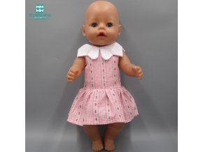 Doll Clothes girl dress fits 43cm Baby Born Zapf Doll and American girl fashion pink princess (5)