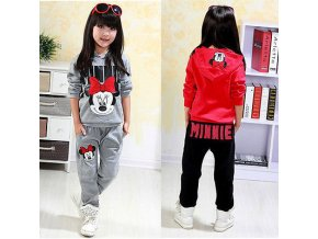 2pcs Baby Girls Kids Minnie Mouse Clothes Set Long Sleeve Hooded Coat Pants Oufits Clothes Set 1