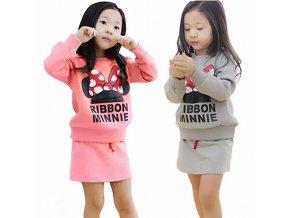 2018 baby clothes set Autumn Girls clothing Minnie bow skirt suit children suit children suit wholesale 1