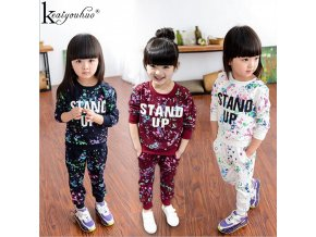 Winter Girls Clothes Sets 2Pcs Long Sleeve Tracksuit For Kids Clothes Sport Suits Children Clothing Girls 1