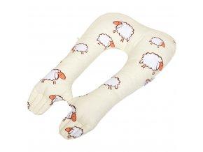 Multifunkční stabilizační polštářek New Baby ovečky béžový